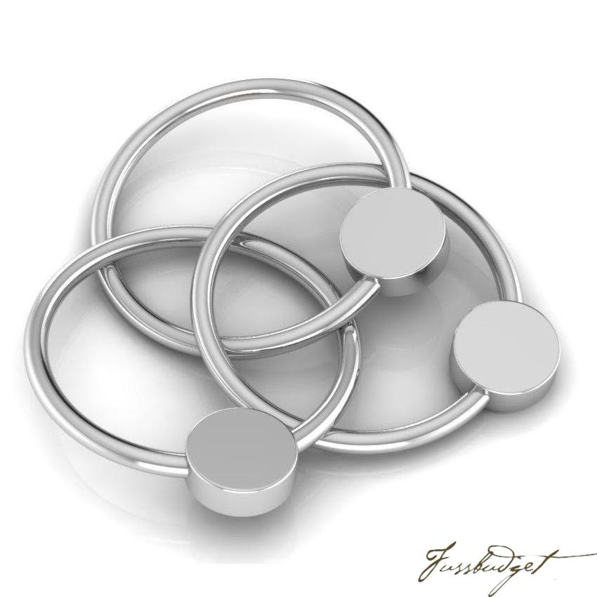 Sterling Silver Flat 3 Ring Teether Rattle-Fussbudget.com