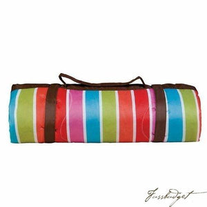Bright Stripes Picnic Blanket-Fussbudget.com