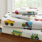 Olive Kids Trains, Planes, Trucks Twin Sheet Set-Fussbudget.com
