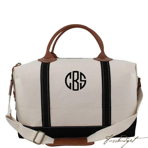 Monogrammed Weekender Bag - Look Below for Links to Fonts & Colors-Fussbudget.com