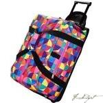 Load image into Gallery viewer, Pinwheel Rolling Duffel Bag-Fussbudget.com