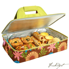 Load image into Gallery viewer, Insulated Casserole Carrier -Floral