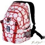 Big Dot Red & White Serious Backpack-Fussbudget.com