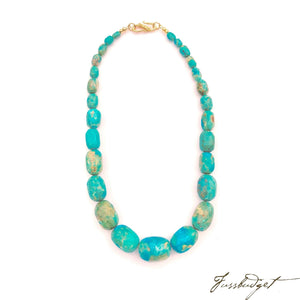 Cameran Turquoise Howlite Rondelle Necklace