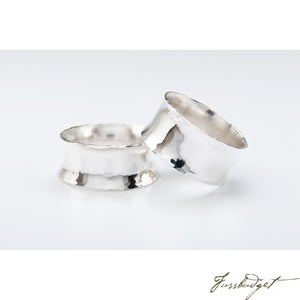 Hand Crafted Silver Planished Napkin Ring-Fussbudget.com