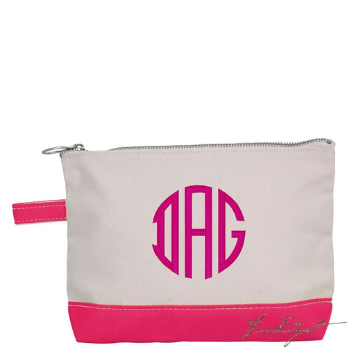 Monogrammed Makeup Bag - Look Below for Links to Fonts & Colors-Fussbudget.com