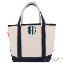 Load image into Gallery viewer, Monogrammed Open Top Boat Tote