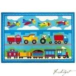 Load image into Gallery viewer, Olive Kids Trains, Planes, Trucks 5x7 Rug-Fussbudget.com