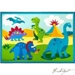 Load image into Gallery viewer, Olive Kids Dinosaur Land 5x7 Rug-Fussbudget.com