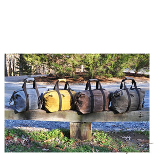 Monogrammed Waxed Canvas Weekender Bag (Canvas Handle)