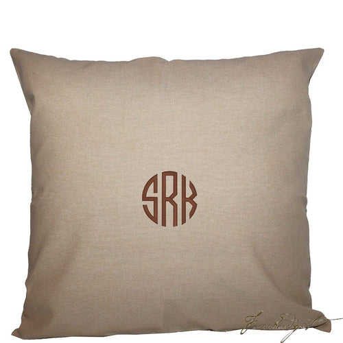 Monogrammed Jute Pillow - Look Below for Links to Fonts & Colors
