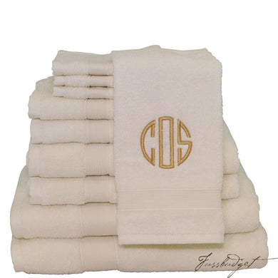 Monogrammed Luxury 8 Piece Cotton Towel Set