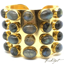 Load image into Gallery viewer, Wonder Woman Cuff Four Row - Labradorite