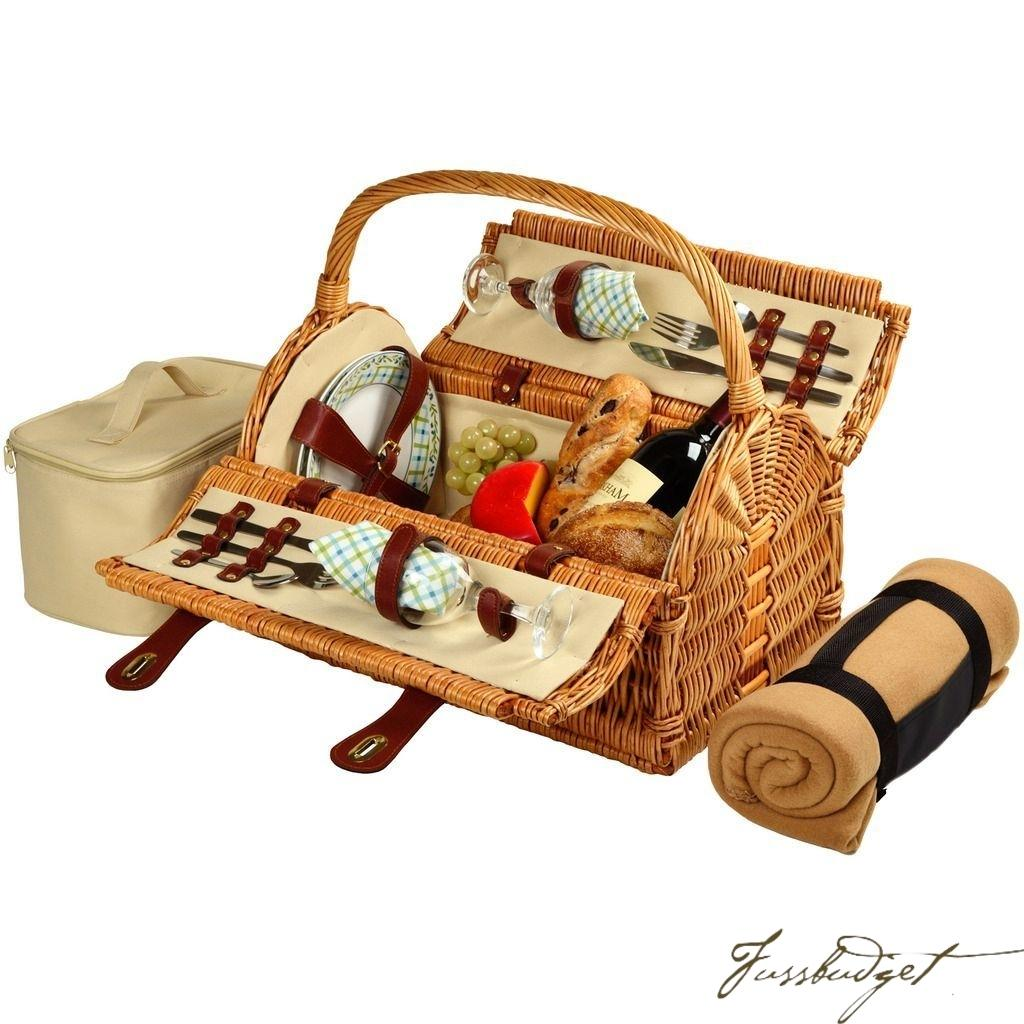 Sussex Picnic Basket for 2 w/Blanket -Gazebo