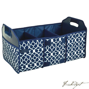 Original Folding Trunk Organizer by Picnic at Ascot - Trellis Blue