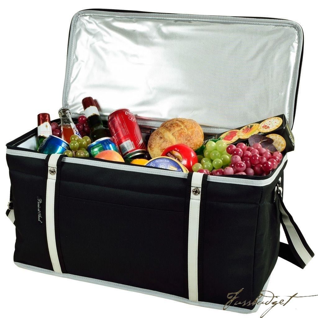 72 Can Large Folding Collapsible Cooler - Black