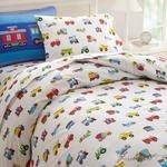 Olive Kids Trains, Planes, Trucks Full Duvet Cover-Fussbudget.com