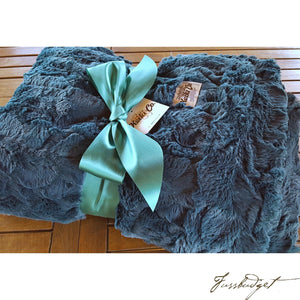 TEAL BELLA COUTURE THROW-Fussbudget.com
