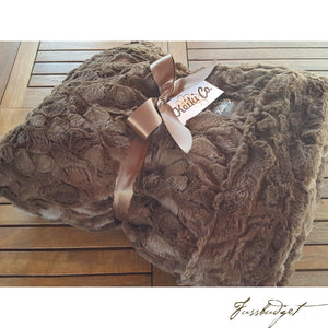 CHOCOLATE BELLA COUTURE THROW-Fussbudget.com
