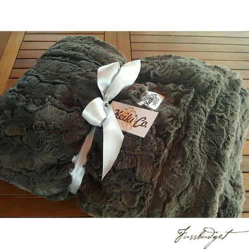 CHARCOAL BELLA COUTURE THROW-Fussbudget.com