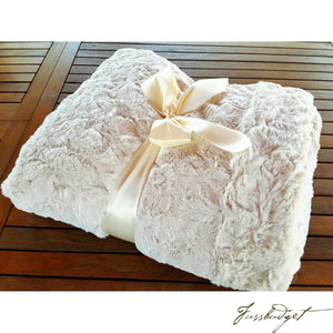 IVORY BELLA COUTURE THROW-Fussbudget.com