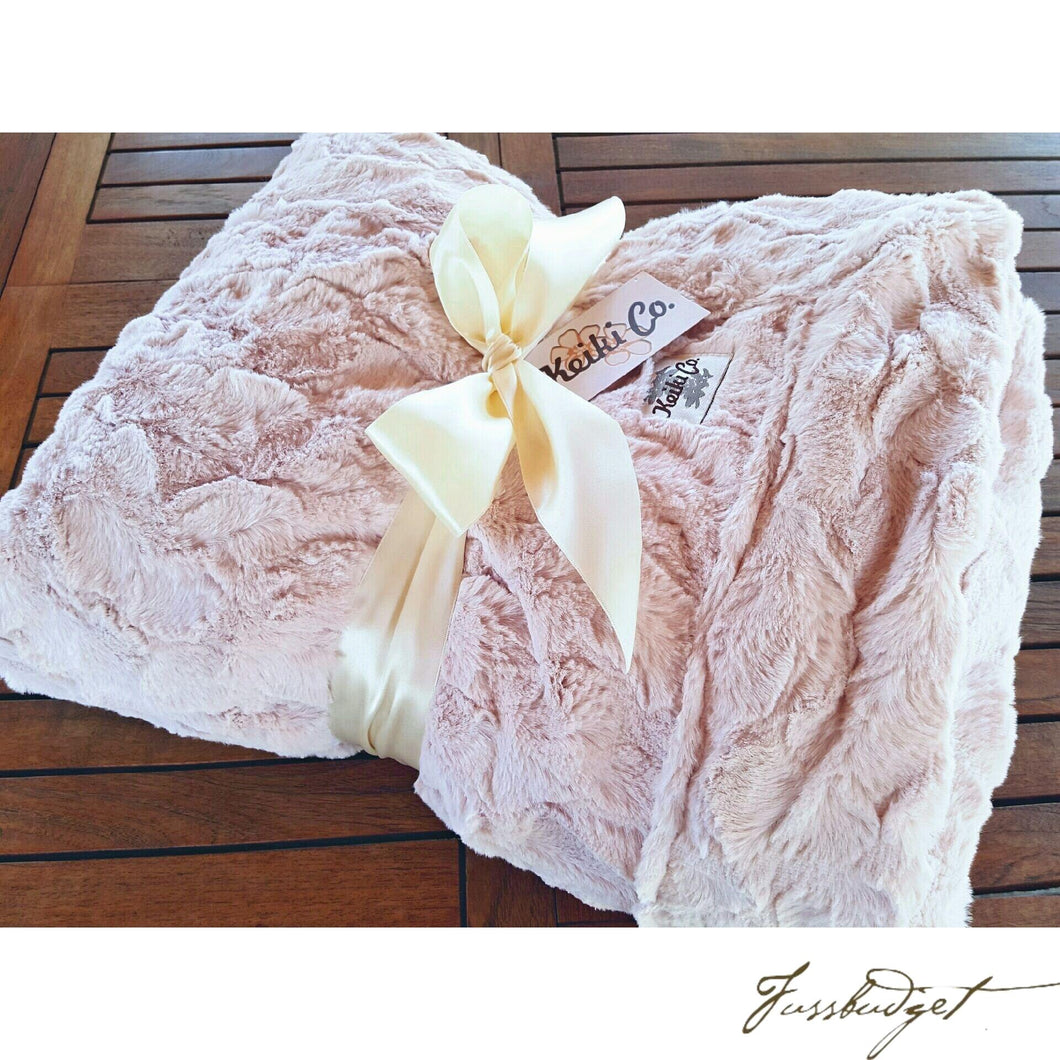 BLUSH BELLA COUTURE THROW-Fussbudget.com