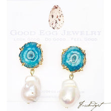 Load image into Gallery viewer, Michelle Druzy and Pearl Earrings