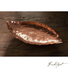 Load image into Gallery viewer, Copper Banana Leaf Bowl-Fussbudget.com