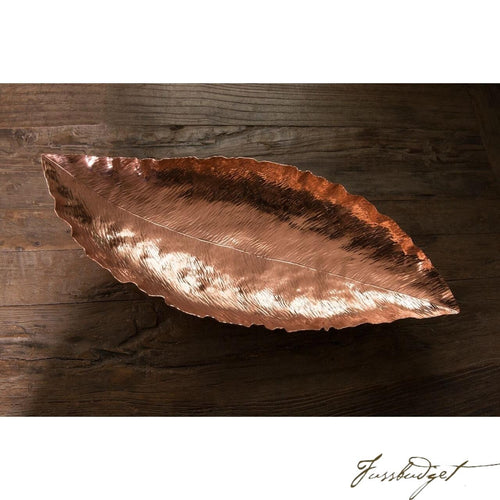 Copper Banana Leaf Bowl-Fussbudget.com
