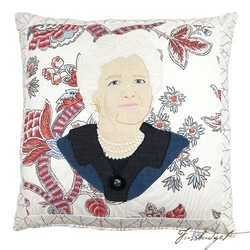 Barbara Bush Custom Made Pillow-Fussbudget.com