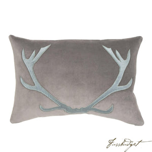 Blitzen Pillow - Blue/Gray-Fussbudget.com