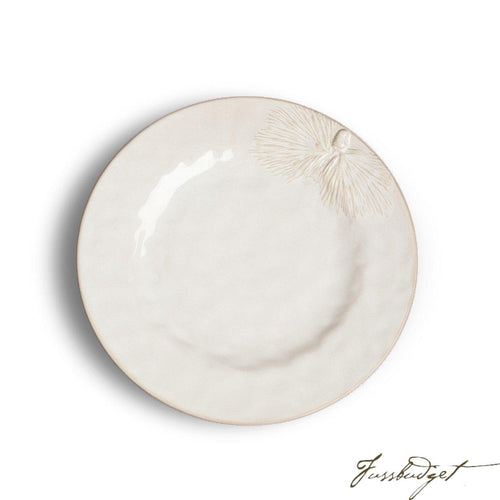 White Pinecone Dinner Plate (sold in boxes of 4)-Fussbudget.com