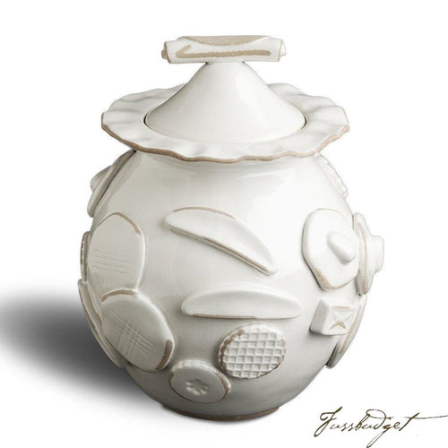 Cookie Jar - French White-Fussbudget.com