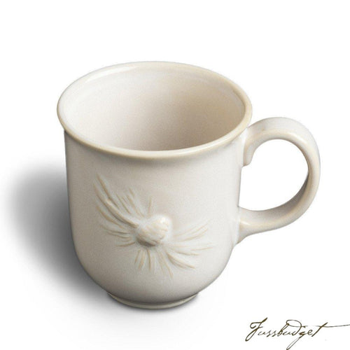 White Pinecone Mug (sold in boxes of 4)-Fussbudget.com