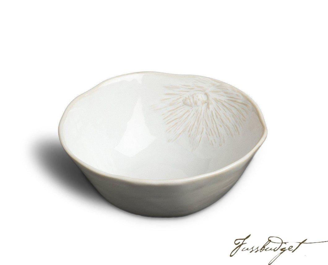 White Pinecone Soup/Cereal Bowl (Sold in boxes of 4)-Fussbudget.com