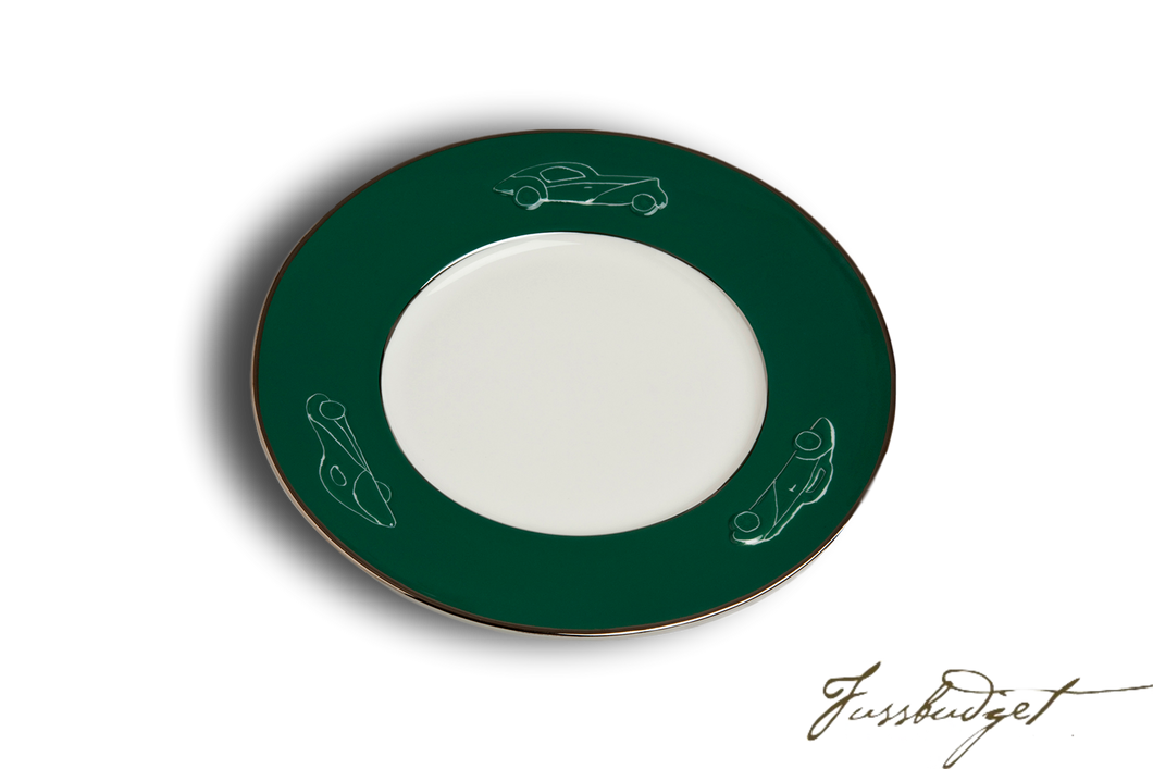 Concours d'Elegance Salad/Desert Plates - British Racing Green (sold in boxes of 2)