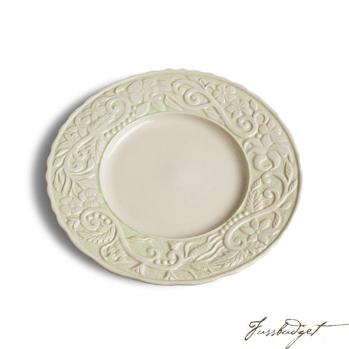 Flower Garden Dinner Plates - Green (sold in boxes of 4)-Fussbudget.com
