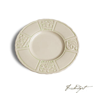 Flower Garden Salad Plates - Green (sold in boxes of 4)-Fussbudget.com