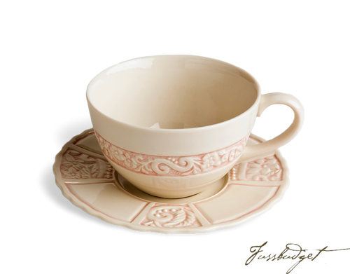 Flower Garden Latte Cup & Saucer - Pink (sold in boxes of 2)