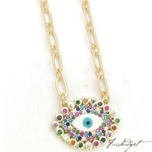 Load image into Gallery viewer, Mariel Rainbow Eye Necklace