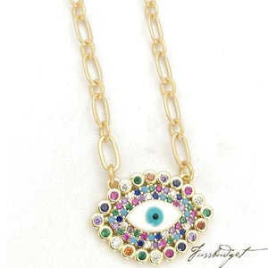 Mariel Rainbow Eye Necklace