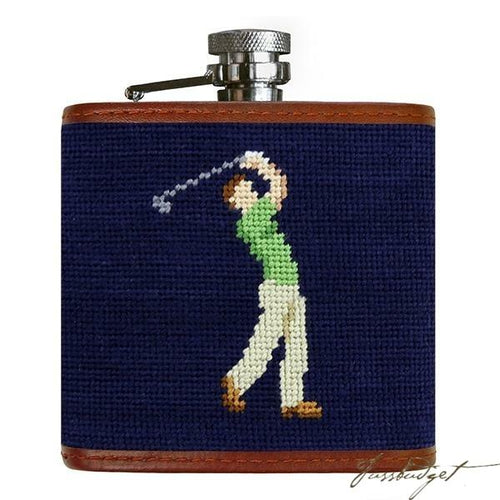 Mulligan Needlepoint Flask