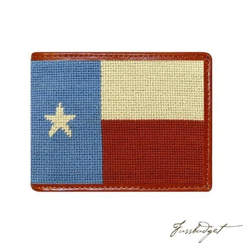 Vintage Texas Flag Needlepoint Wallet