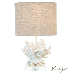"Coastal Retreat Wayfarer Coral 17"" Table Lamp-Fussbudget.com"