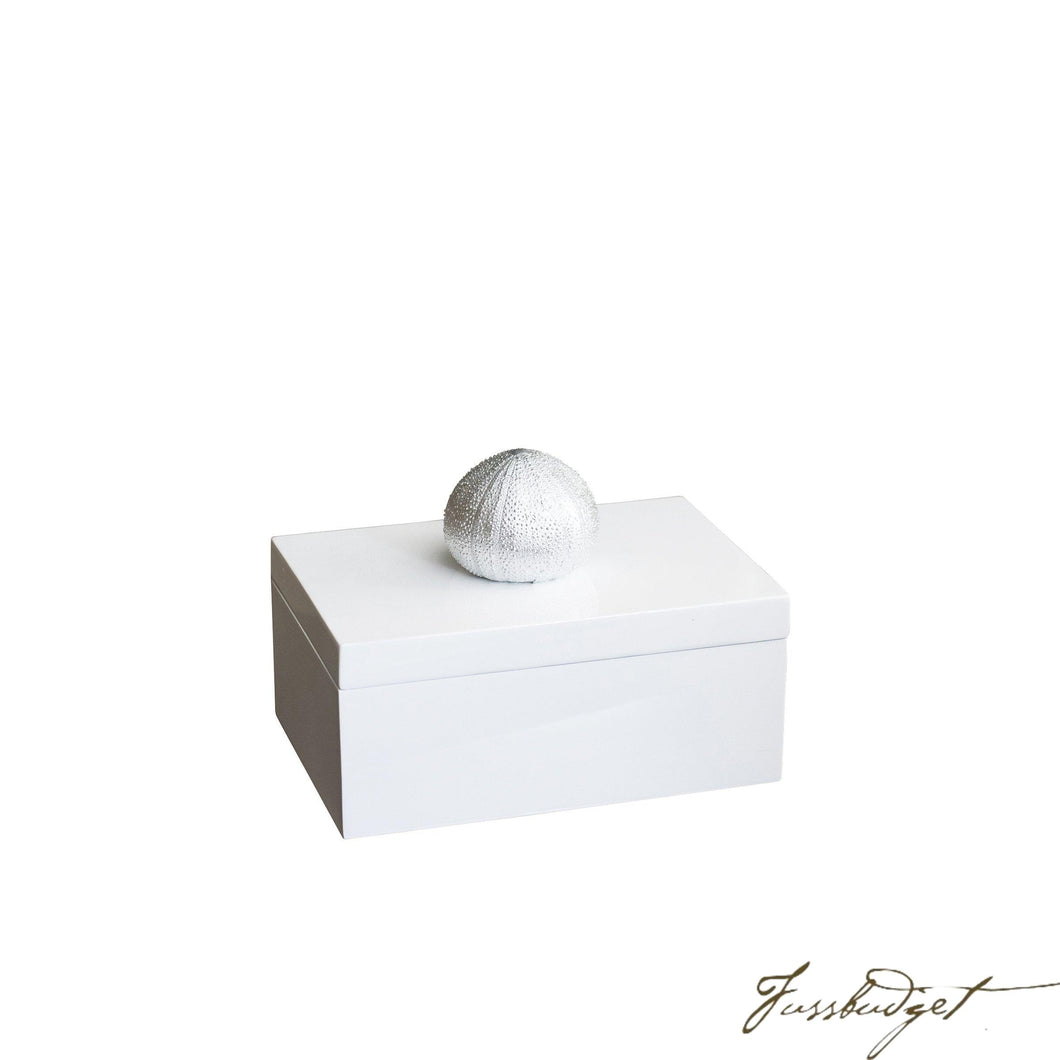 Silver Sea Urchin Rectangular Box-Fussbudget.com