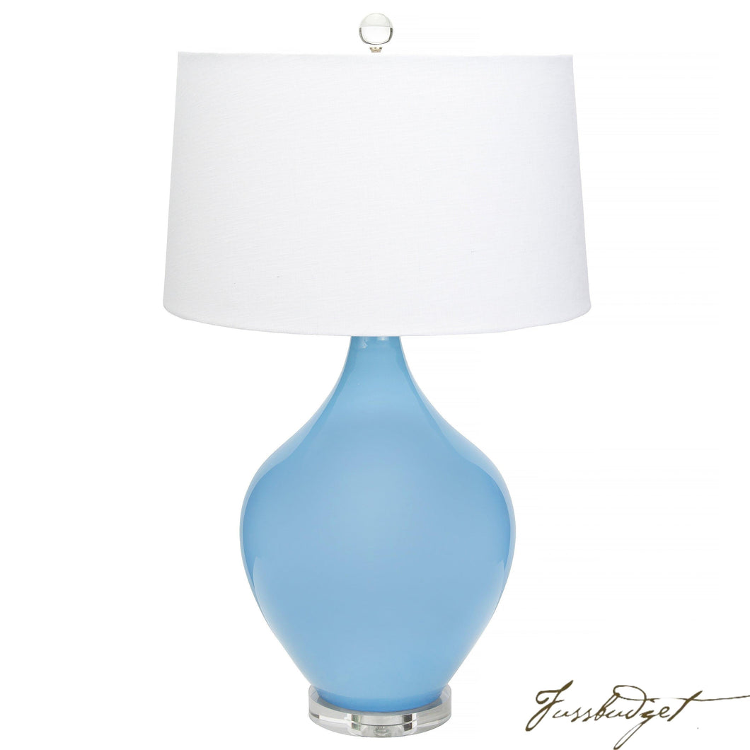 Poppy Table Lamp - Light Blue-Fussbudget.com