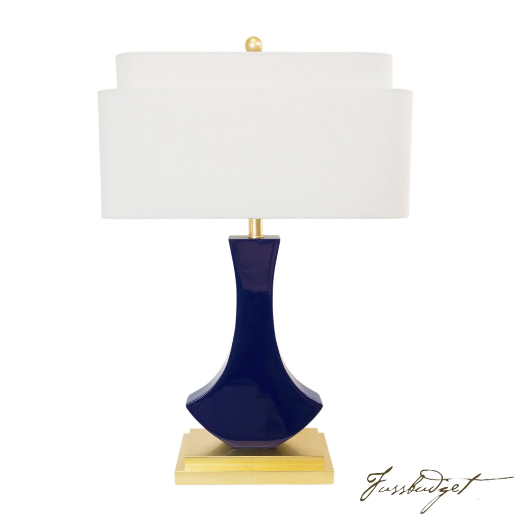 Bellaria Table Lamp [Indigo Blue]-Fussbudget.com