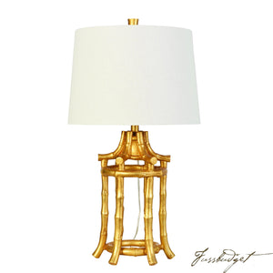 Golden Bamboo Table Lamp-Fussbudget.com