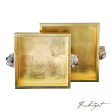 Load image into Gallery viewer, Astoria Quartz Square Trays [Set of 2]-Fussbudget.com