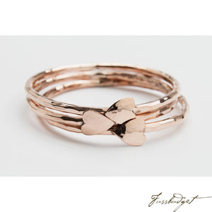 Copper Heart Bangle Bracelet-Fussbudget.com